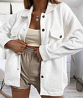 Рубашка пальто Белый, фото 1
