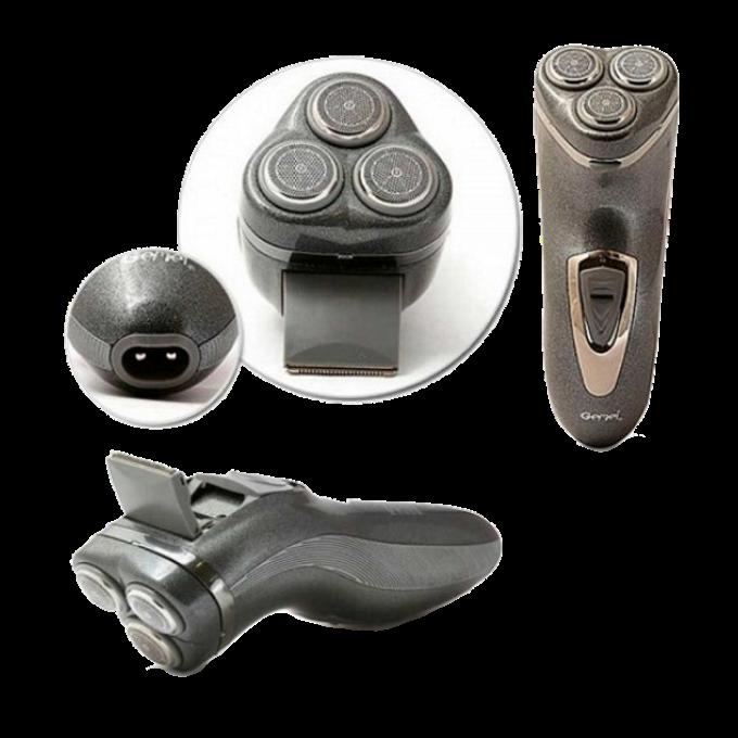 Электробритва Gemei GM-7500 3 в 1 - беспроводная роторная бритва с триммером