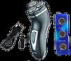 Электробритва Gemei GM-7500 3 в 1 - беспроводная роторная бритва с триммером, фото 2