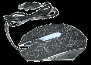 Игровая компьютерная мышь Zeus M-110 - проводная USB мышка с подсветкой Чёрная, фото 3