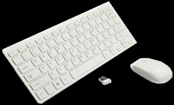Клавиатура беспроводная с мышью Keybord Wireless K03 (Белая) - комплект клавиатура мышь
