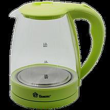 Электрочайник Domotec MS-8212 (2,2 л / 2200 Вт) - Чайник электрический с LED подсветкой Салатовый, фото 2