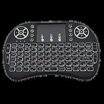 Беспроводная мини клавиатура KEYBOARD MWK08/i8 LED с тачпадом и подсветкой, фото 3