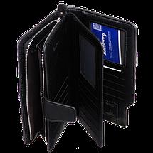 Мужской кошелек клатч портмоне барсетка бумажник Baellerry business S1063 Black, фото 2