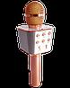 Микрофон караоке WSTER WS-1688 - беспроводной Bluetooth микрофон с 05 тембрами голоса Розово-Золотой, фото 2