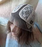 """Парик из натуральных волос каре с пробором русый милированный INESS 8""""-10Н26, фото 8"""