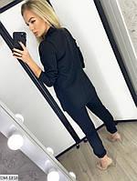Модный деловой женский брючный костюм с удлиненным пиджаком арт 078, фото 4