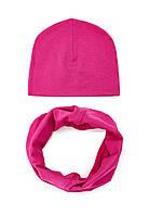 """Детский набор: шапочка со снудом """"Малина"""", фото 1"""