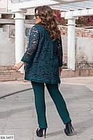 Вечерний нарядный женский костюм тройка с брюками размеры батал 50-60 арт 1157, фото 5