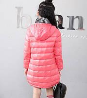 Куртка для девочки демисезонная удлиненная Sound, розовый