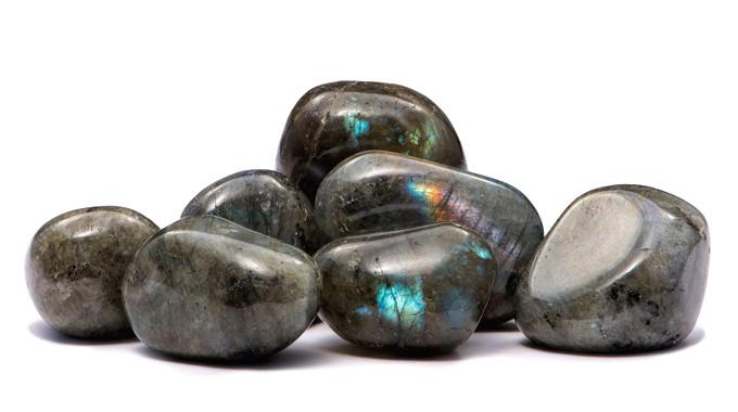 Натуральный камень галтовка крошка Лабрадор скол 16-25 мм (20 грамм, 2 шт). Камінь Лабрадор крихта натуральний