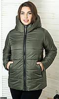 Куртка зелёная Осень Украина большого размера 50 856811-2