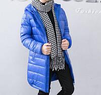 Куртка детская демисезонная удлиненная Sound, синий