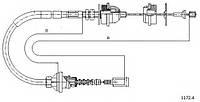 Трос управление сцеплением FIAT DUCATO, PEOGEOT JUMPER  2.5-2.8 JTD (1994-2002) 1318446080