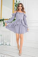 Стильное молодежное женское платье до середины бедра с оголенными плечами арт 604, фото 4