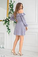 Стильное молодежное женское платье до середины бедра с оголенными плечами арт 604, фото 5