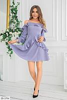Стильное молодежное женское платье до середины бедра с оголенными плечами арт 604, фото 7
