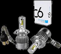 Комплект автомобильных LED ламп C6 H4 - Светодиодные лампы, Автолампа, Ближний, дальний свет, Автосвет