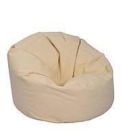 Серое большое кресло мешок из кож зама Зевс