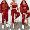 Стильний, модний жіночий осінній спортивний костюм трійка з плащової тканини р. 42-48. Арт-3307/14