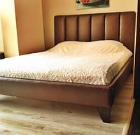 """Двоспальне Ліжко """"Chocolate"""" 160*200 з м'яким високим узголів'ям., фото 1"""