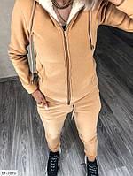 Теплый женский спортивный костюм трехнить на флисе с кофтой на меху арт 242, фото 4
