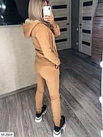 Теплый женский спортивный костюм трехнить на флисе с кофтой на меху арт 242, фото 5