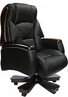 Кресло Барин люкскожа черная