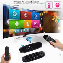 Универсальный пульт мышка клавиатура для смарт тв телевизора Air mouse C120, фото 3