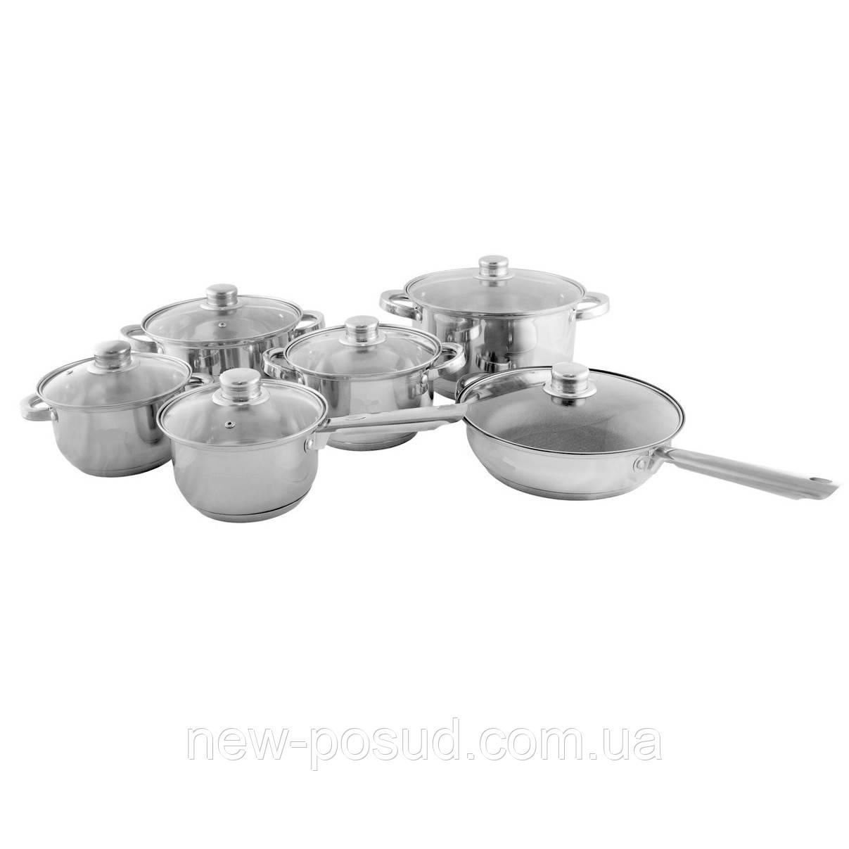Набір посуду з нержавіючої сталі 12 предметів Edenberg EB-3735