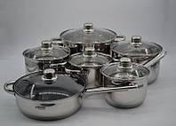 Набір посуду з нержавіючої сталі 12 предметів Benson BN-208