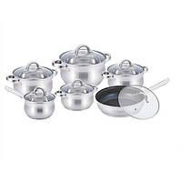 Набір посуду з нержавіючої сталі 12 предметів Benson BN-212