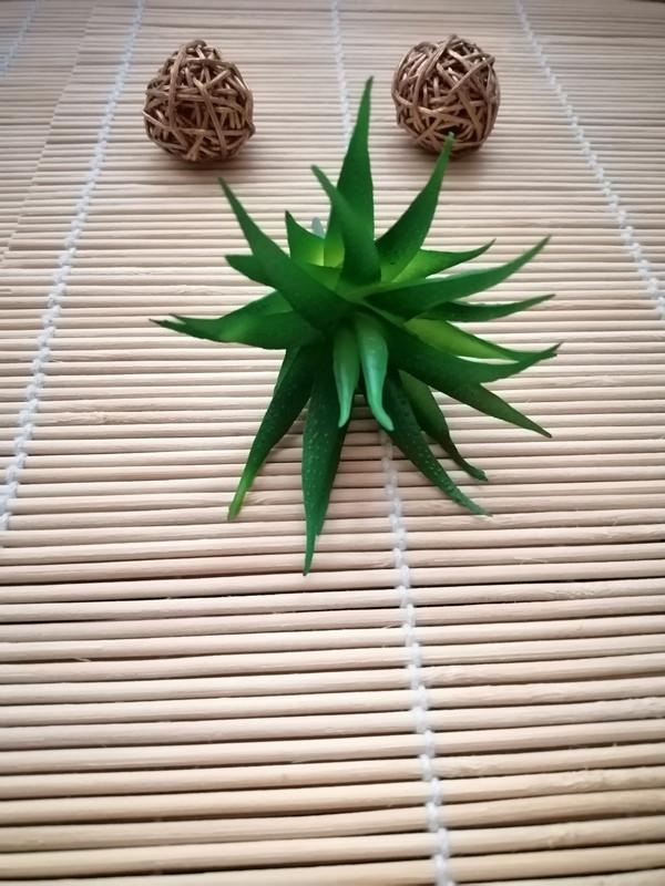 Суккуленты искусственные, зеленый, 7 см