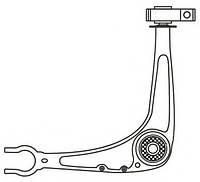 Рычаг независимой подвески колеса, подвеска колеса FRAPPA 3935