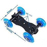 Тележка для видеосъемки, глайдтрек AccPro ST-07 Dolly Kit Skater black для съемки видео, Мини-тележка, фото 7
