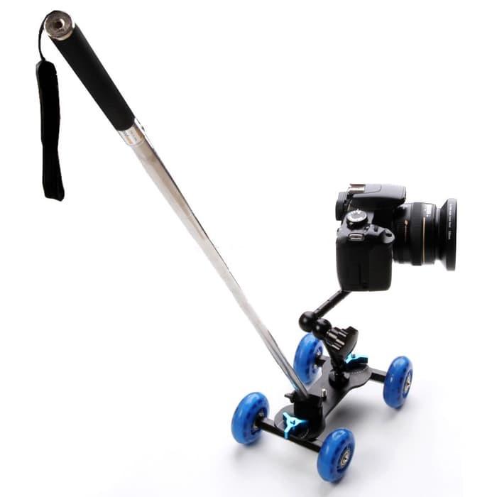 Тележка для видеосъемки, глайдтрек AccPro ST-07 Dolly Kit Skater black для съемки видео, Мини-тележка