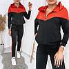 Стильний, модний жіночий осінній трикотажний спортивний костюм з капюшоном р. 42-48. Арт-3312/14