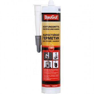 Герметик жаростойкий для печей и каминов BauGut +1500 °C черный 280 мл