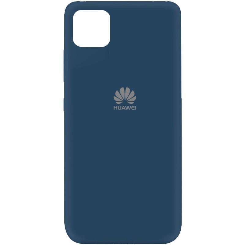 Cиликоновый чехол для Huawei Y5p (DRA-LX9), Silicone case full protective, Navy Blue