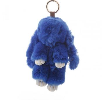 Брелок на сумку Кролик светло синий