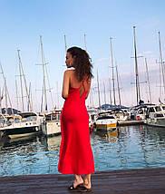 Сукня комбінація жіноче на бретелях AniTi 123, червоний, фото 3