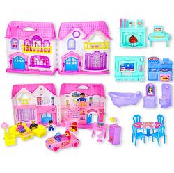 Детский игровой домик.Домик с мебелью двухэтажный.