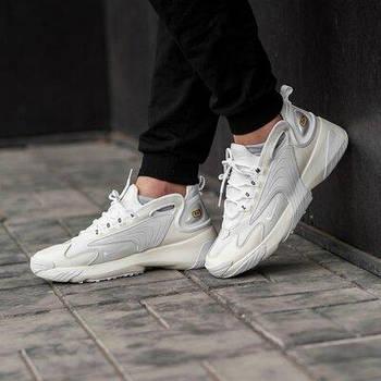 Кроссовки Nike Zoom 2k white grey. Найк зум 2к белый с серым