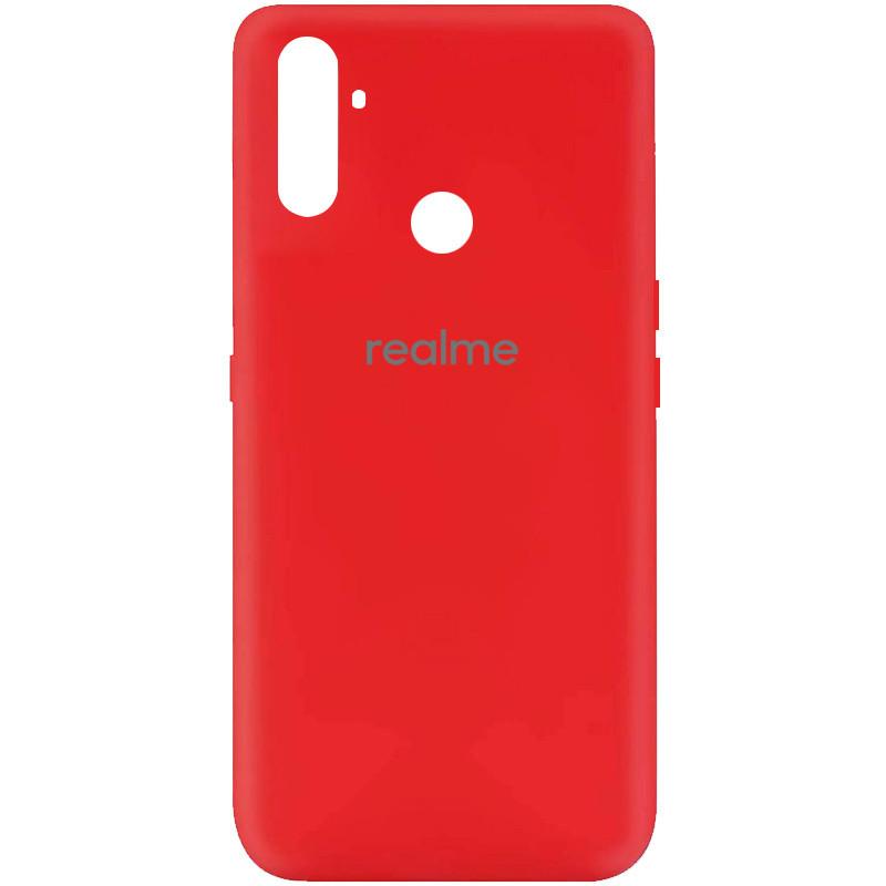 Cиликоновый чехол для Realme C3, Silicone case full protective, красный