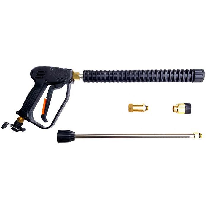 Пистолет для мойки высокого давления (латунные насадки, защелка)