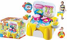 Детская игровая кухня игрушечная печка с посудой арт.008-98