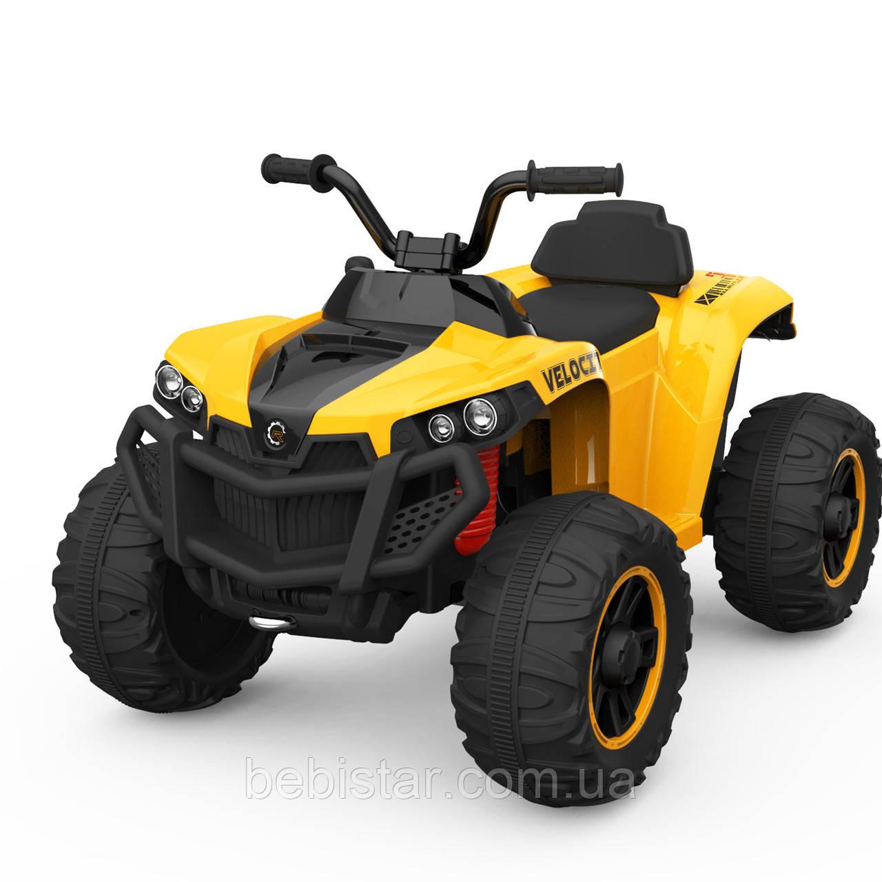 Детский электромобиль-квадроцикл желтый T-738 EVA YELLOW для деток 3-8 лет мотор 2*15W аккумулятор 6V7AH