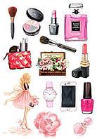 Вафельная картинка Мода и стиль | Съедобные картинки Fashion | Картинки для торта для девочек разные Формат А4