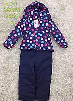 Куртка+напівкомбінезон для дівчаток, 98-128 рр. Артикул: LD11