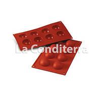 Силиконовые формы для выпечки SILIKOMART HALF-SPHERE SF004 (8 ячеек, объем=240 мл)